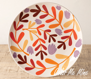 Kensington Fall Floral Charger