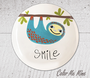 Kensington Sloth Smile Plate