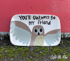Kensington Owl Plate