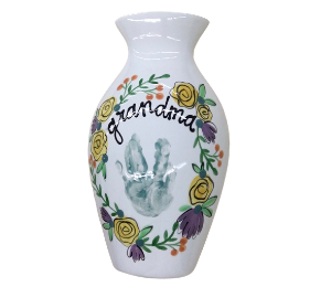 Kensington Floral Handprint Vase