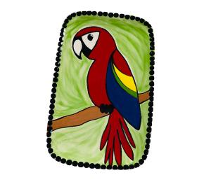 Kensington Scarlet Macaw Plate